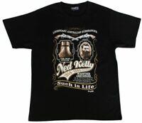Ned Kelly - Adult T Shirt Australian Souvenir 100% Cotton - Wanted