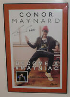 CONOR MAYNARD BECOME A #MANIAC POSTER! SIGNED! CAPITOL RECORDS! US DEBUT 11 x17""