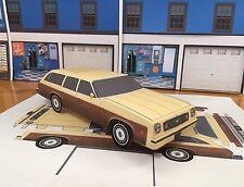 Papercraft 1973 Chevrolet Laguna Estate wagon PaperCar E Z U-build Toy Car
