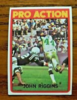 1972 TOPPS PRO ACTION #126 JOHN RIGGINS RC - Jets
