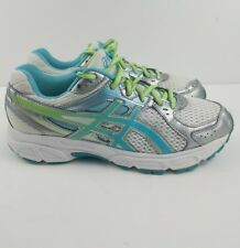 Women's Asics Gel Contend 2 Athletic Running Shoes White Blue Women's Size 6.5