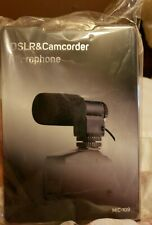 NEW DSLR & CAMCORDER DIRECTIONAL STEREO MICROPHONE MIC-109 NIKON CANON GREAT
