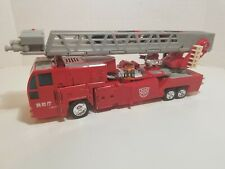 Transformers RID Fire Truck Optimus Omega Prime Super Class Figure