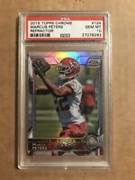 2015 MARCUS PETERS PSA 10 TOPPS CHROME REFRACTOR ROOKIE RC RAVENS #124