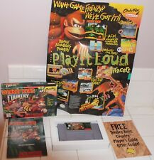 VTG SUPER NINTENDO DONKEY KING COUNTRY GAME w BOX, INSTRUCTIONS POSTER COMPLETE