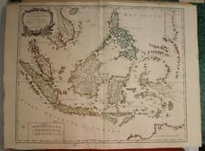 EAST INDIES INDONESIA PHILIPPINES 1750 VAUGONDY ANTIQUE COPPER ENGRAVED MAP