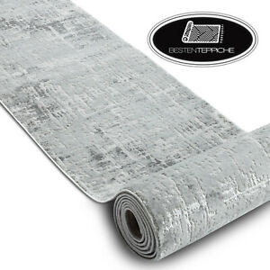 Modern Hall Runner structural MEFE 8722 grey white 70-80cm extra long RUGS