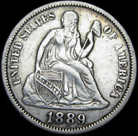 1889 Seated Liberty Dime Silver ---- Type Coin ---- #K512