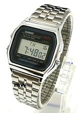CASIO VINTAGE RETRO DIGITAL SILVER WATCH A159WA A159 Alarm Ladies Mens Brand new