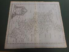 100% ORIGINAL LARGE BUCKINGHAMSHIRE MAP BY ROBERT MORDEN C1695 LOW POST