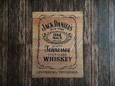 Tin Sign Vintage Jack Daniels Old No. 7 Wood Grain Barrel