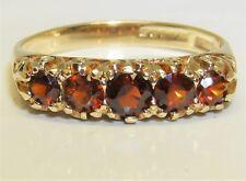9CT YELLOW GOLD GARNET ETERNITY RING SIZE 9 Carat 5  Stone M