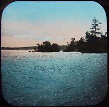 Glass Magic Lantern Slide THIRD SISTER ISLAND C1890 PHOTO NIAGARA FALLS NY USA