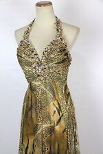 New Tony Bowls 2351225 Authentic Multi-colored Beaded Bridal Evening Gown 0