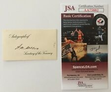 Andrew Mellon Signed Autographed 3 x 1.5 Card JSA Certified Treasury Gulf Oil