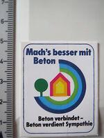 Aufkleber Sticker Beton Symphatie Baustoffe (3926)