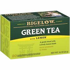 TEA BIGELOW GREEN TEA w/ LEMON Herbal Plus PROBIOTICS (20 bags x 5 boxes) NEW