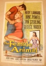 THE FEMALE ANIMAL  - USA  1 sheet ORIGINAL POSTER .