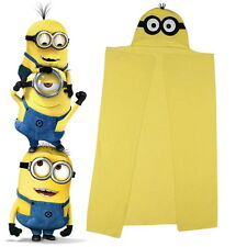 Official Despicable Me Minions Yellow Hooded Fleece Blanket