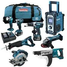 12tlg. MAKITA 18V  Akku Werkzeug Set + DFR750 Magazinschrauber RFE RMJ Z