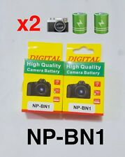 2 x NP-BN1 900mAh 3.7v Replacement For Sony CyberShot W350 W570 W520 WX5 UK