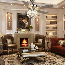 lampara cristal ventilador aire viento Reversible decoracion habitacion moderno
