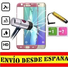 Protector Pantalla FULL ROSA SAMSUNG GALAXY S6 EDGE PLUS Cristal Templado PORO