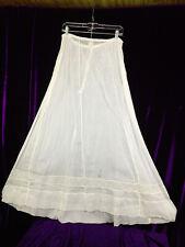 C 1900 Tall Length Sheer Edwardian Lingerie Insert Skirt Summer Gauze