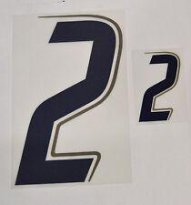 """Grafica UFFICIALE ITALIA MONDIALI 2006 Home Numero e Numerino """"2"""" blu"""