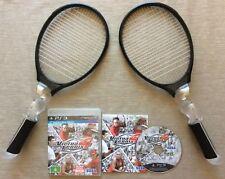 PS3 VIRTUA TENNIS 4 GAME + 2 MOVE TENNIS RACQUETS ~ *GENUINE AUS PAL VERSION*