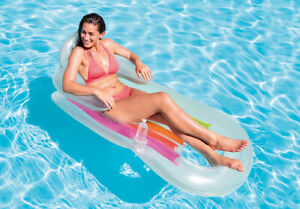 INTEX King Kool Lounges Inflatable Pool Mattress With Backrest Chair 160cmx85cm