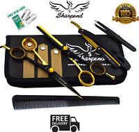 Salon Hair Cutting Professional Thinning Barber Shears Scissors Hairdressing Set