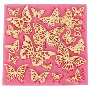 Butterfly Silicone Fondant Lace Embosser Mat Mould Cake Sugarcraft Decor Mold