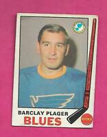 1969-70 OPC # 176 BLUES BARCLAY PLAGER VG CARD (INV# C5912)