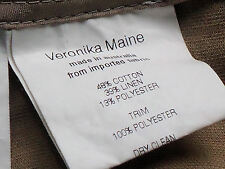 VERONIKA MAINE DesignerSmartNude48%Cotton39%LinenMixShortSz14