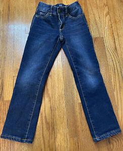Gap Kids Lined Denim Jeans Girls Slim Stretch Straight Size 6