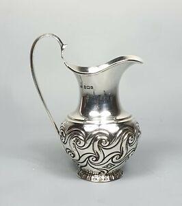 Charles Horner Antique Silver Art Nouveau Cream Jug 1902