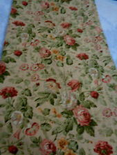 "QTY 4 CROSCILL LINED CURTAIN PANELS 40""X84"" SHABBY PINK ROSE ON DEEP BEIGE"