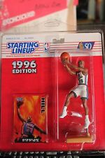 1996 GRANT HILL Starting Lineup - Detroit Pistons - w/protective dome