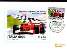 New listing SPORT FERRARI CHAMPION FORMULA 1 CAR RACING 2001 ITALY MAXIMUM CARD FDC