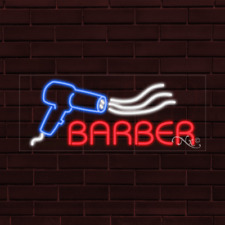 Brand New Barber Withlogo 32x13x1 Inch Led Flex Indoor Sign 30385