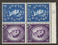 SB57 Wilding booklet pane 9.5mm Phos unlisted perf type AP2E UNMOUNTED MNT