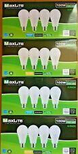 16 Maxlite 100W Light Bulbs 15W LED 8 x DAYLIGHT + 8 x SOFTWHITE Special Buy