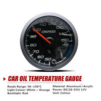 2.5'' 60mm Car Auto LED Pointer Oil Temp Temperature Gauge Dials Meter Sensor