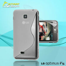 Clear S Curve Gel Case+ Free SP for LG Optimus F5 4G P875 Jelly Tpu soft cover