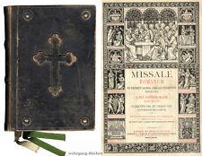Missale Romanum, Folio, Stahlstichtafeln, Chromolithos, Holzstiche, Pustet 1878