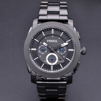 Fossil Machine FS4552 Black Ion-plated Stainless Steel Chronograph Men's Watch