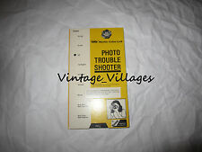 Vintage Kodak Colorwatch System Photo Trouble Shooter Instruction Slide Card