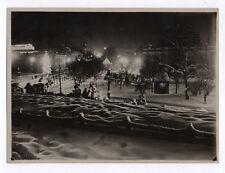 PHOTO ANCIENNE Keystone NORVÈGE OSLO 1932 NOËL NEIGE VINTAGE LUMIÈRE