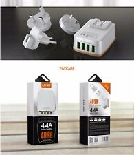 4 USB Ports 4.4A Fast Charger UK Plugs Charger iphone 8 8 X Plus  Xiaomi Samsung